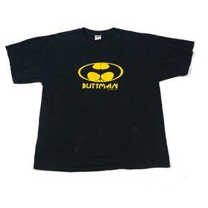 Other - Buttman [Batman] Logo Tee T-Shirt XL Black Yellow